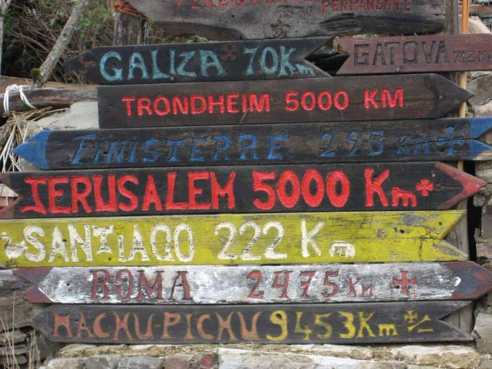 This is where you are--on the Camino Frances!