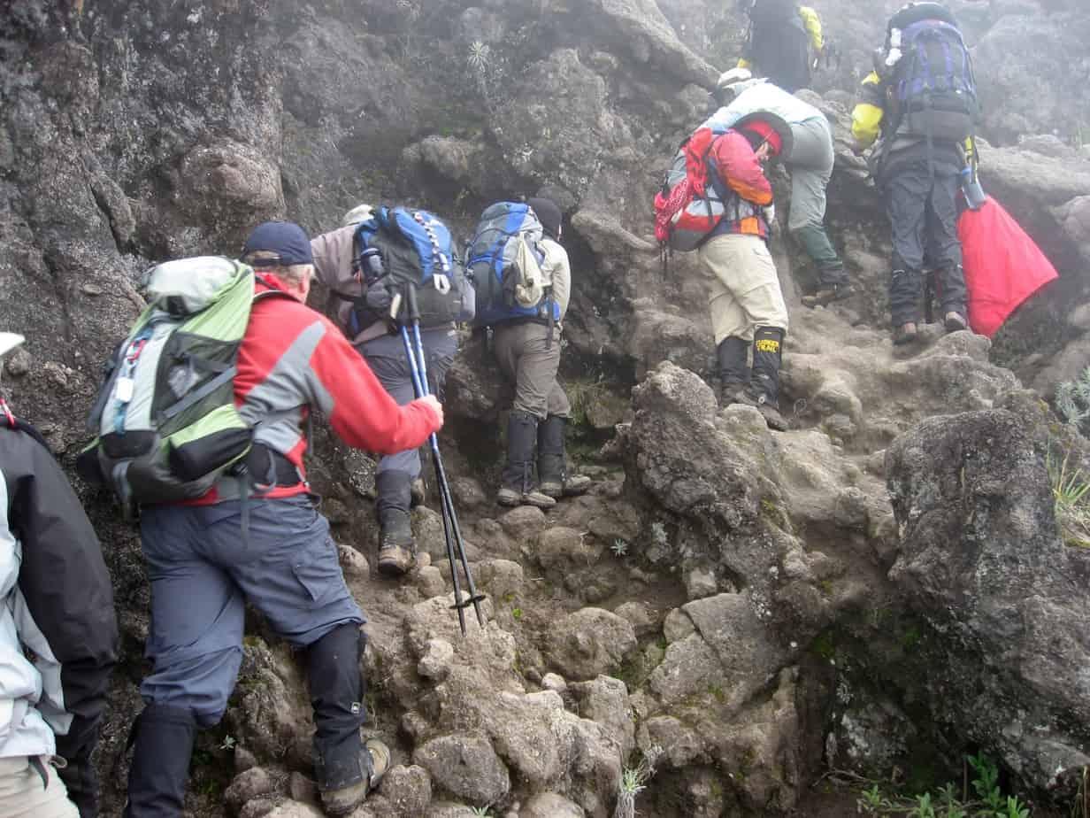 Baranco Wall on Mount Kilimanjaro