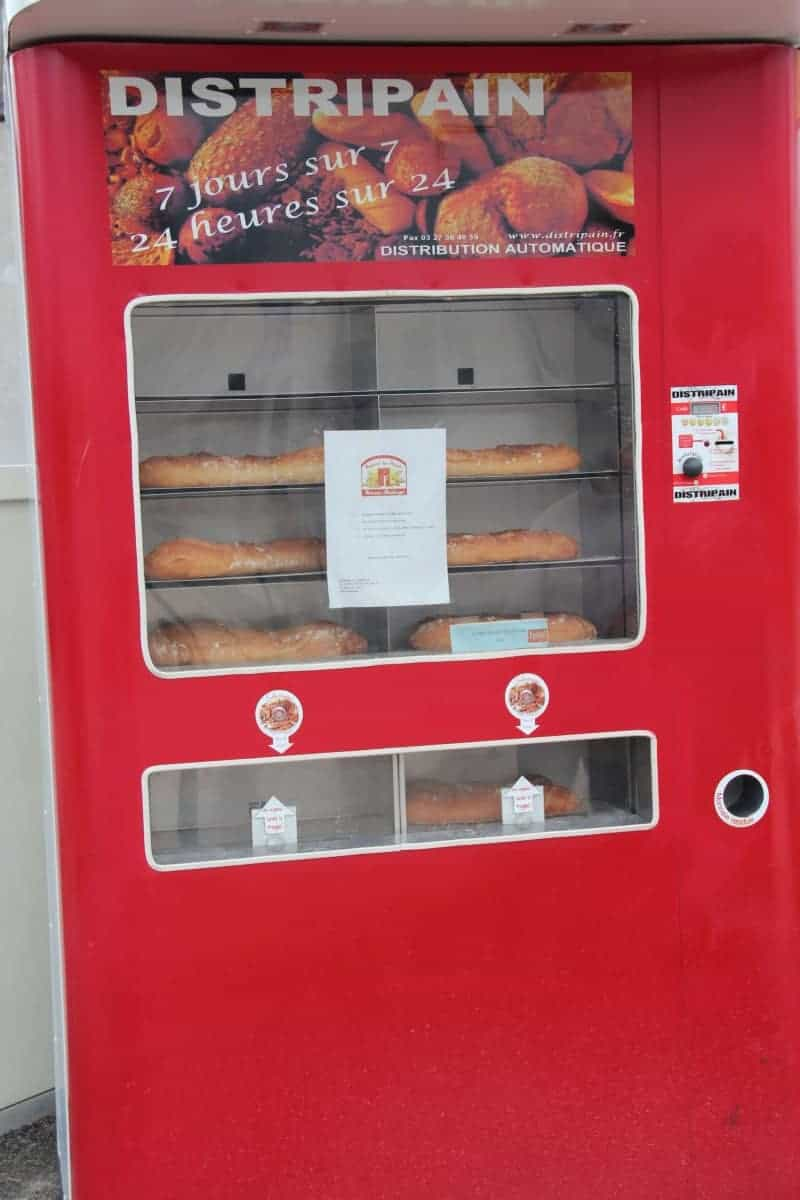 Baguettes from the vending machine
