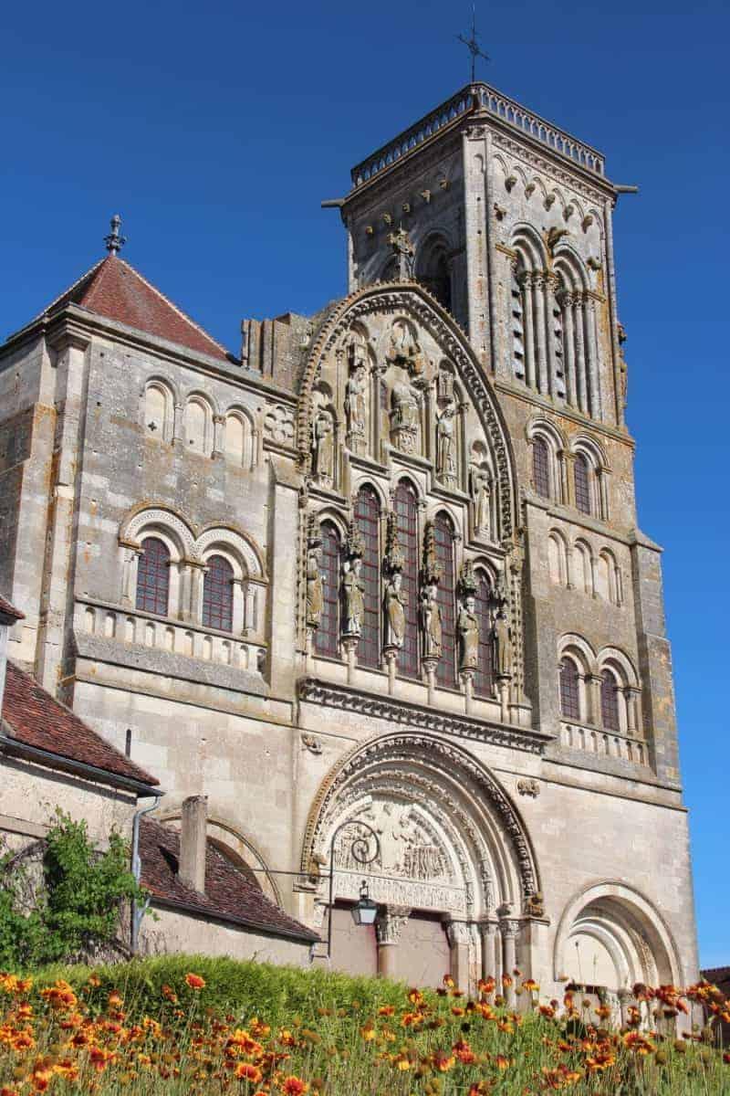 La Basilique Sainte-Marie-Madeleine in Vézelay, FR. Begins the Vezelay Chemin route