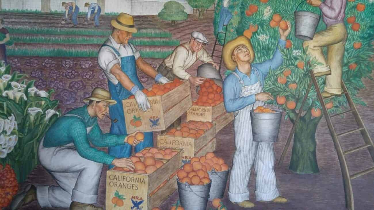 Mural in Coit Tower, Telegraph Hill, S.F.