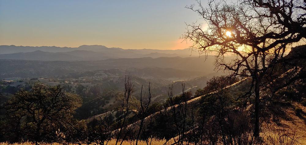 View from Berryessa Peak Trail, CA